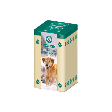 Companion Christmas Dog Treats Tin