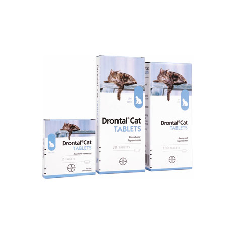 Drontal Cat Ellipsoid Tablet