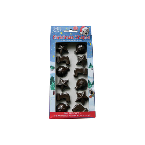 Dog Carob Christmas Shapes
