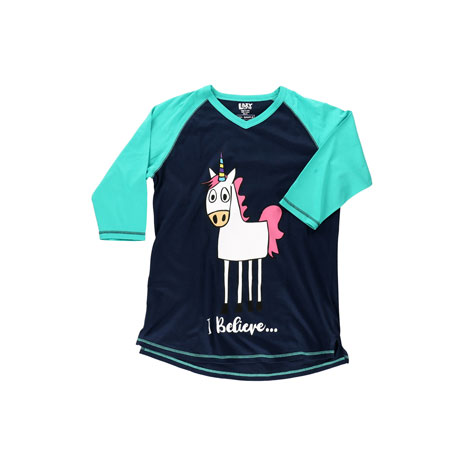 LazyOne Womens I Believe Unicorn PJ Tall T Shirt Adult
