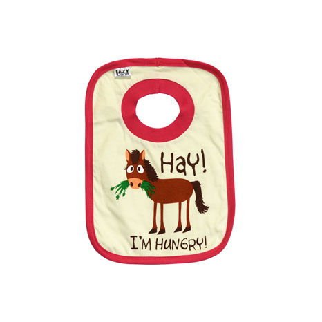 LazyOne Girls Hay I'm Hungry Baby Bib