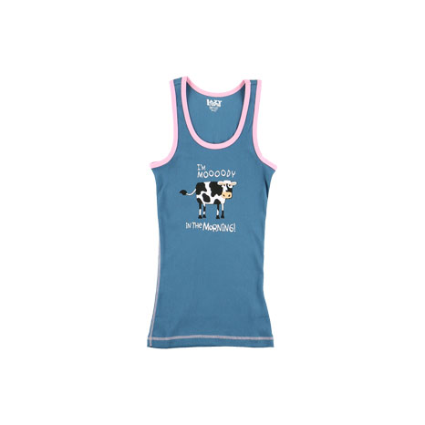 LazyOne Women's Mooody in the Morning PJ Tank Top