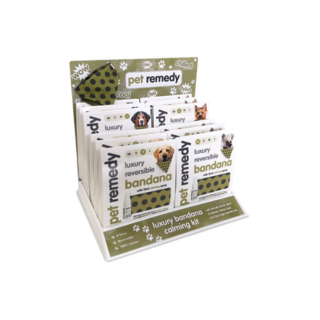 Pet Remedy Bandana Counter Display Unit