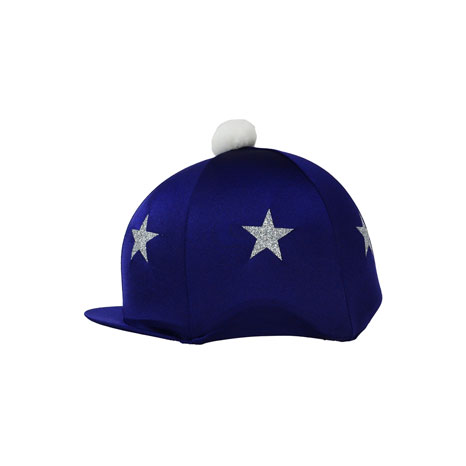 HyFASHION Pom Pom Hat Cover with Glitter Star Pattern