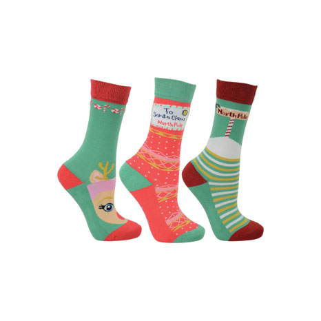 HyFASHION Children's Christmas Socks (Pack 3)