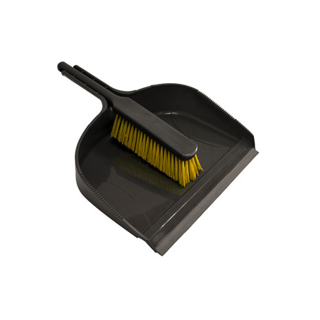 Jumbo Dustpan with Stiff Banister Brush