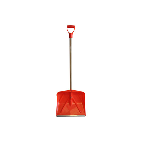 Heavy Duty Snow Shovel with Wooden Handle