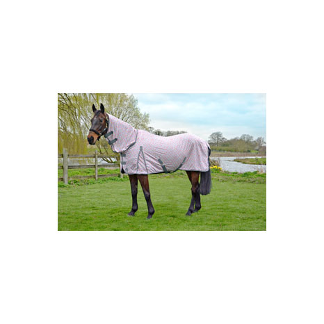 Hy Mesh Combo Neck Fly Rug Butterfly Print