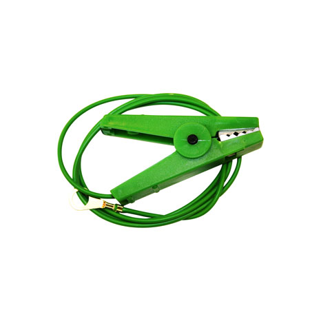 Agrifence Earth Lead on Green Croc Clip