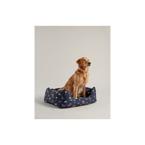 Joules Dog Print Box Bed