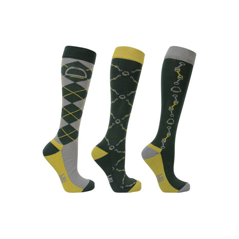 Hy Equestrian Elegant Stirrup and Bit Socks (Pack of 3)