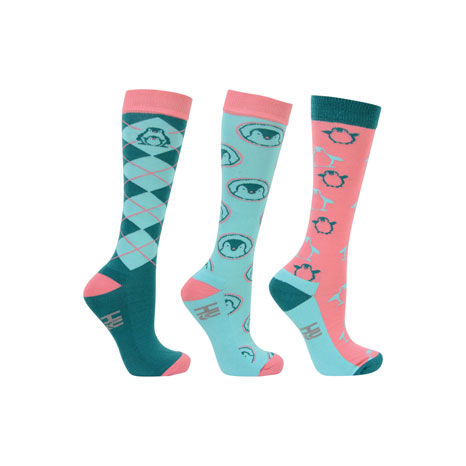 Hy Equestrian Percy Penguin Socks ( Pack of 3)