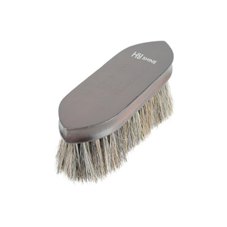 HySHINE Deluxe Horse Hair Wooden Dandy Brush