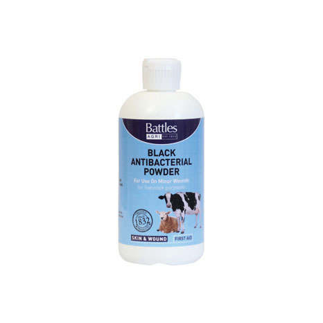 Battles Black Anti-Bacterial Powder